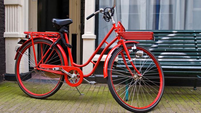 Красный голландский байк.