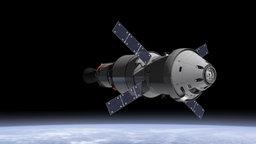 """Raumkapsel """"Orion""""."""