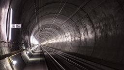 Innenansicht eines Tunnels.